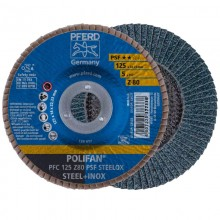 Set 10 disc lamelar PFERD POLIFAN PSF 125 Steelox Z80