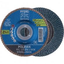 Set 10 disc lamelar PFERD POLIFAN PSF 125 Z-BOX Z60