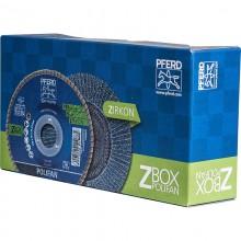 Set 10 disc lamelar PFERD POLIFAN PSF 125 Z-BOX Z40