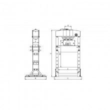 Presa hidraulica 50T Chicago Pneumatic CP86500